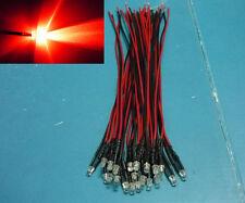 (20 PCS) 3mm Red blinking pre wired LED 5V 6V 12V 9V DC 20cm flashing light bulb