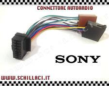 Connettore adattatore ISO autoradio SONY 16 contatti installazione car stereo
