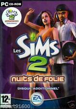 JEU PC CD ROM../...LES SIMS 2 .....NUITS DE FOLIE.../...DISQUE ADDITIONNEL