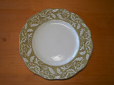 J & G Meakin England Sterling Colonial RENAISSANCE Green Set of 2 Dinner Plates