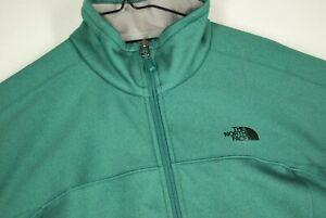 The North Face Soft Shell Lightweight Jacket Mint Emerald Green Full Zip Womens