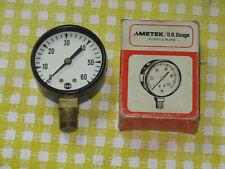 Vintage 2 0 30 Psi Ametekusg Pressure Gauge Steampunk Industrial Nos