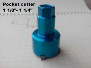 """Valve seat  pocket cutter adjustable,range: 1 1/8""""- 1 1/4"""" for 3/8"""" pilot."""