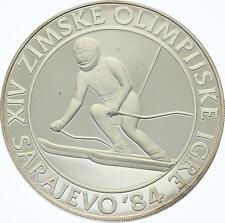 O4332 Yugoslavia 500 Dinara 1984 Sarajevo Olympics 1984 Slalom Proof Silver