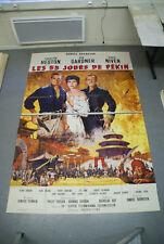 Grande Affiche de cinéma : LES 55 JOURS DE PEKIN de NICHOLAS REY (en 2 parties)