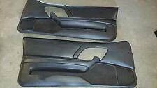 93-02 97 98 Camaro SS Z28 V6 Ebony Leather Door Panels Driver Passenger 01 Pair