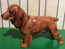 ROYAL DOULTON DOG COCKER SPANIEL MODEL No HN 1187 GOLDEN BROWN GLOSS FINISH VGC