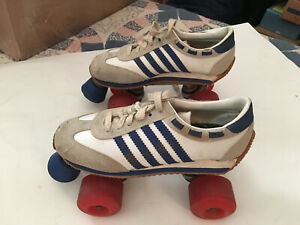 Vintage 1970's  Sneaker Roller Skates Size 7 Womens  Kryptos Wheels