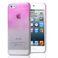 Pink Waterdrop Clear Hard Slim Snap-on Case Cover For Apple iPhone 5 5th Gen