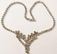 collier ancien rivière de cristaux diamant couleur argent 4110