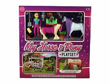 New Kids Girls My Horse & Pony Playset Toy Gift Set