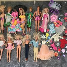 Vintage Barbie and Accessories Job Lot Clothes Food Dolls Ken 1966 1993 1968