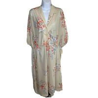 Vintage Melissa Lane Womens Dress Sz 16 Tan Red Blue Floral Fit and Flare NWT