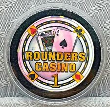 ROUNDERS CASINO - POKER CHIP, CARD GUARD/PROTECTOR