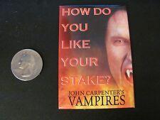 John Carpenter's Vampires promo pinback pin vintage