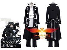 Pandora Hearts Gilbert Nightray (Raven) Uniform Cosplay Costume Custom Size