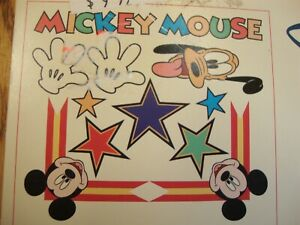 NEW Disney Home Imperial Instant Stencils MICKEY MOUSE 3 sheets