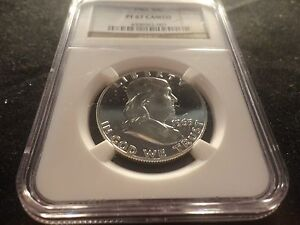 1963 FRANKLIN SILVER HALF DOLLAR 50 CENTS NGC PF PROOF 67 CAMEO- BRILLANT- CLEAN
