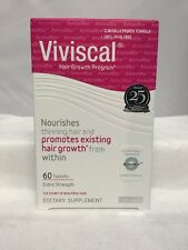 Viviscal  Hair Growth Program  Extra  Strength 60  Tablets Exp  5/2019 - 8/2020