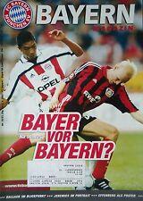Programm 2001/02 FC Bayern München - Bayer Leverkusen