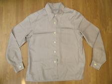 Margaret Howell Silver/Grey 100% Silk Shirt Size M UK 14 Blouse