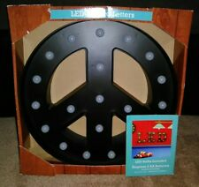 """LED LIGHTED PEACE SIGN WALL PLAQUE DECOR ~ BRAND NEW IN BOX! ~ 12"""" DIAMETER!!!!!"""