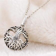 1X Retro Style Tree of Life Aromatherapy Necklace Locket Diffuser Volcanic Stone