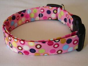 Charming Pink Hot Polka Dots Dog Collar