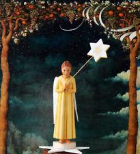 Engel Weihnachtsengel Holz geschnitzt handbemalt 15cm