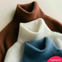 Damen Feinstrick-Pullover Kaschmir Pulli Rollkragen Pullover Strickpullover