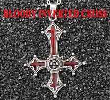 Inverted Cross Bloody Cross Pendant Satanism Necklace Vampire Lucifer Gothic