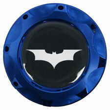 Engine Oil Fuel Filler Billet Cap Tank Cover Aluminum Blue Batman Logo