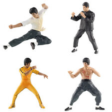 4pcs Bruce Lee Kung Fu Master Toy Set Movie Action Figures Home Decor Gift