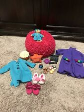 American Girl of today retired beanbag chair, bear and games LOT accessories
