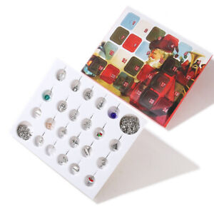Merry Christmas Advent Calendar Gift with 22pcs Charms for DIY Bracelet Jewelry