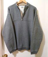 Columbia Mens Gray 1/4 Zip Mock Neck Pullover Sweatshirt  Size L
