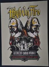 2008 Angryblue Concert Poster HIGH ON FIRE Signed Numbered Art Print