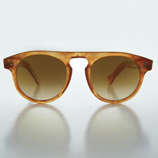 Steve McQueen High Bridge Round Aviator Vintage Sunglass Persimmon-FRANCO