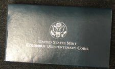 United States Mint Columbus Quincentenary Coin Silver Dollar Proof w/ COA NH