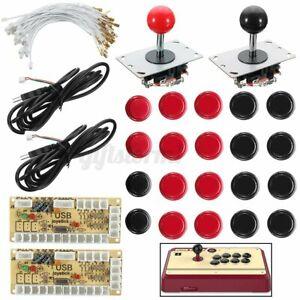 Push Button Zero Delay Arcade Game Joystick Encoder Set Für MAME Raspberry DE