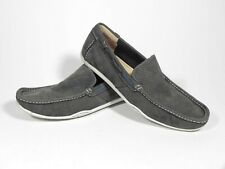 Clarks Loafers Grey Leather Size 12 M Good Condition Slightly Used