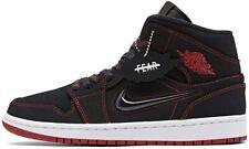 "Air Jordan 1 Mid ""Fearless"" Black Red CK5665-062 Basketball Shoes Men's NEW"