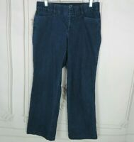 Dockers Cropped Jeans Womens Size 8 Petite Elastic Waist Dark Wash Capri Denim