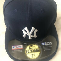 New York Yankees Fitted Hat Navy Blue