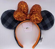 Disney Parks Halloween Haunt It Plaid Minnie Mouse Ears Headband 2021 - NEW