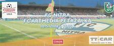 BIGLIETTO-FC Nitra V FC ARTMEDIA petrzalka 10.05.2008