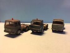 Wiking Set Of 3 Trucks MAN/Magirus-Deutz 1/87 Scale Used Condition