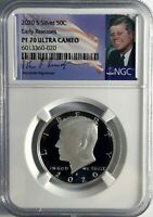 2020 S Silver Kennedy 50C Early Releases NGC PF70 Ultra Cameo Portrait Signature