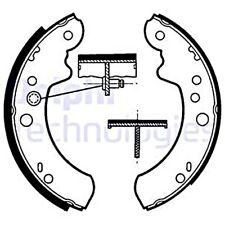 DELPHI Brake Shoe Set For FORD CARBODIES LTI MAZDA METROCAB P 100 II 6150094