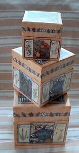Bob's Boxes Nesting Set of 3 FRESH HERBS Artist Sherri Buck Baldwin
